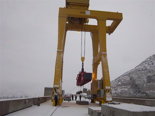 Jib Crane Testing : K n crane rehabilitation projectsbridge and gantry